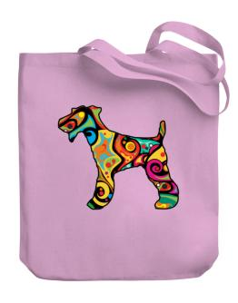 Psychedelic Fox Terrier Canvas Tote Bag