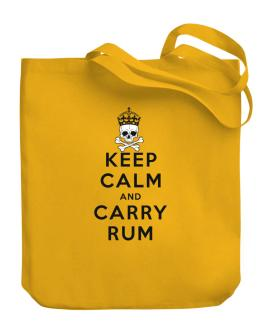 Carry Rum Canvas Tote Bag