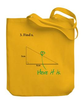 Find X Canvas Tote Bag