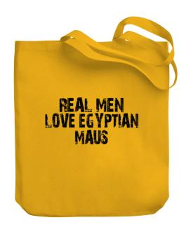Real men love Egyptian Maus Canvas Tote Bag