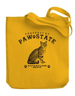 Property by paw state Egyptian Mau Canvas Tote Bag