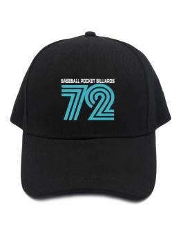 Baseball Pocket Billiards 72 Retro Baseball Cap