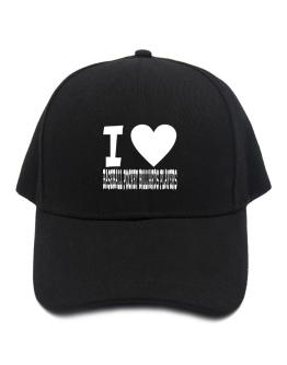 I Love Baseball Pocket Billiards Players Baseball Cap
