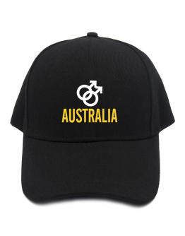 Australia - Male Gender Symbols Baseball Cap