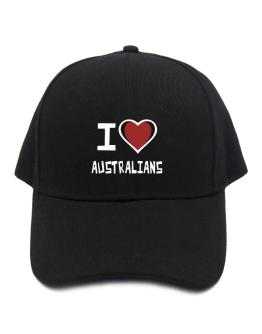 I Love Australians Baseball Cap