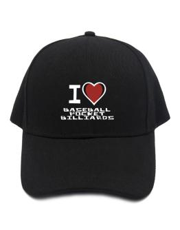 I Love Baseball Pocket Billiards Baseball Cap