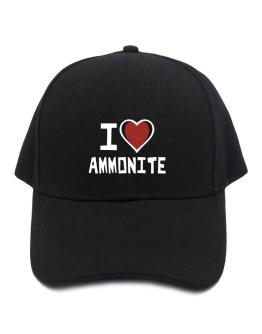 I Love Ammonite Baseball Cap