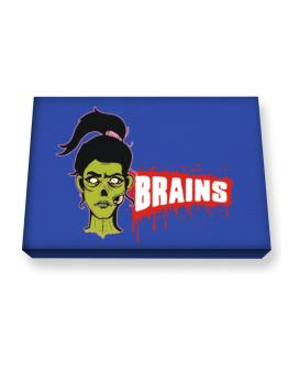 I love you for your brains Canvas square