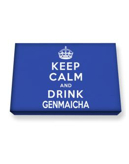 Keep calm and drink Genmaicha Canvas square