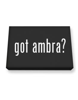 Got Ambra? Canvas square