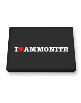 I Love Ammonite Canvas square