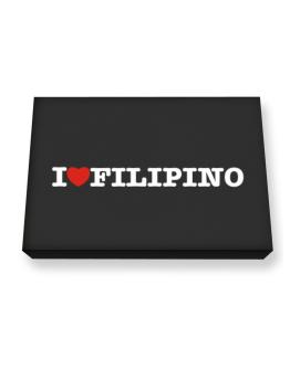 I Love Filipino Canvas square