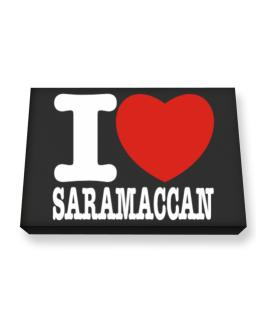 I Love Saramaccan Canvas square
