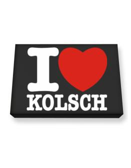 I Love Kolsch Canvas square
