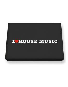 I Love House Music Canvas square