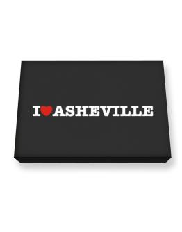 I Love Asheville Canvas square