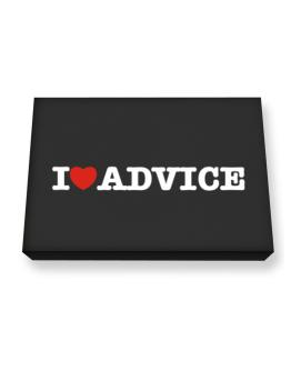 I Love Advice Canvas square