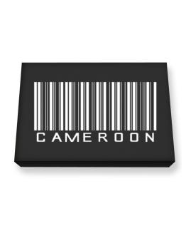 Cameroon Barcode Canvas square