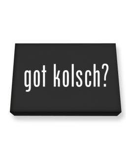 Got Kolsch ? Canvas square