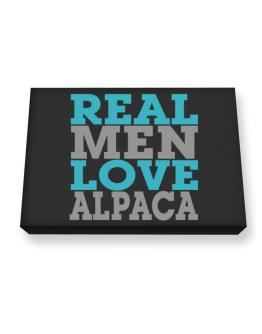 Real Men Love Alpaca Canvas square