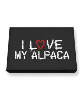 I Love My Alpaca Canvas square
