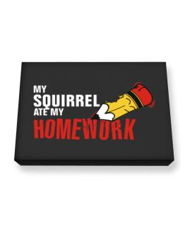 My Squirrel Ate My Homework Canvas square