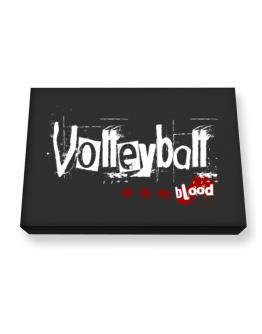 Volleyball Is In My Blood Canvas square