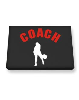 """ Pickleball COACH "" Canvas square"