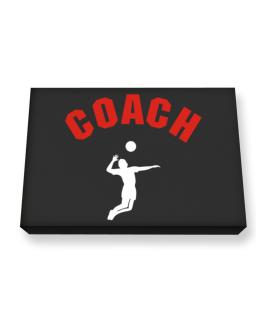 Volleyball Coach Canvas square