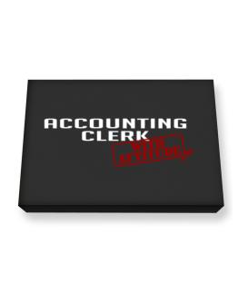 Accounting Clerk With Attitude Canvas square