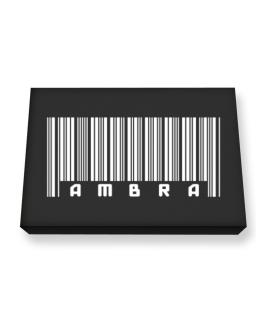 Ambra - Barcode Canvas square