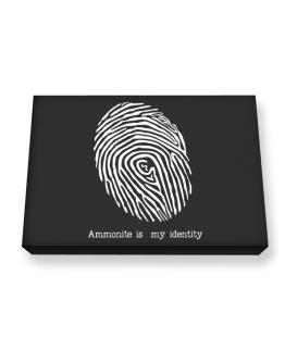 Ammonite Is My Identity Canvas square