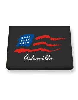 Asheville - Us Flag Canvas square