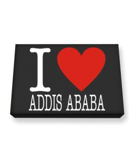 I Love Addis Ababa Classic Canvas square