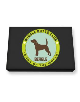 Beagle - Wiggle Butts Club Canvas square