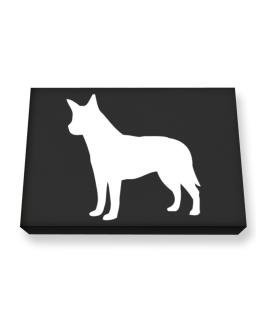 Australian Cattle Dog Silhouette Embroidery Canvas square