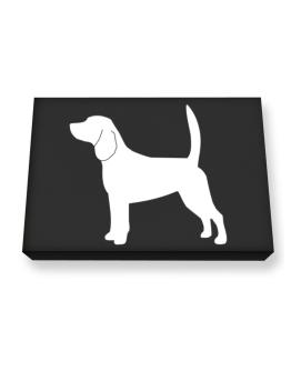 Beagle Silhouette Embroidery Canvas square