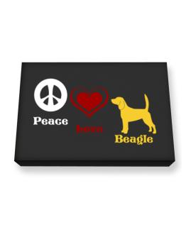 Peace, Love, Beagle Canvas square