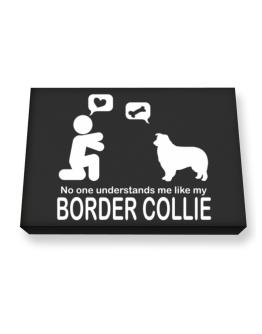 No One Understands Me Like My Border Collie Canvas square