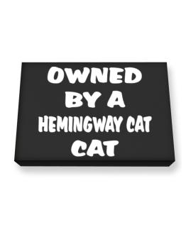Owned By S Hemingway Cat Canvas square