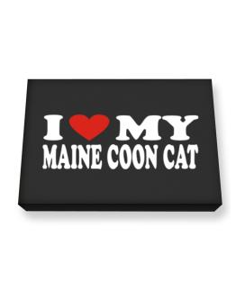 I Love My Maine Coon Canvas square