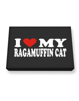 I Love My Ragamuffin Canvas square