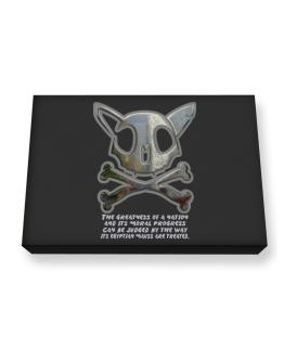 The Greatnes Of A Nation - Egyptian Maus Canvas square