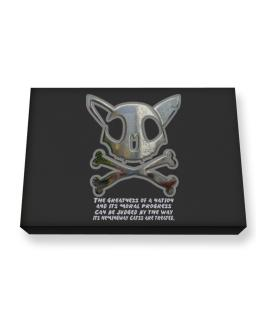The Greatnes Of A Nation - Hemingway Cats Canvas square