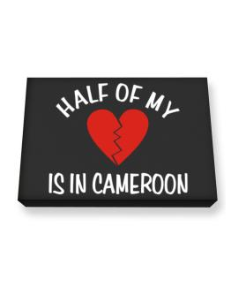 Half Of My Heart Is In Cameroon Canvas square