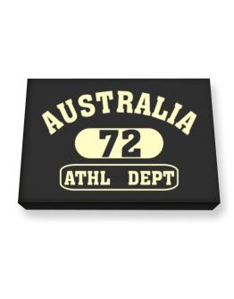Australia 72 Athl Dept Canvas square
