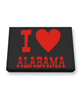 I Love Alabama Canvas square