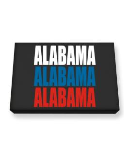 Triple Color Alabama Canvas square