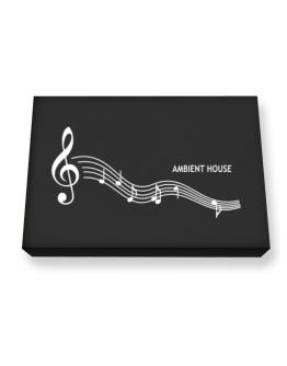 Ambient House - Notes Canvas square