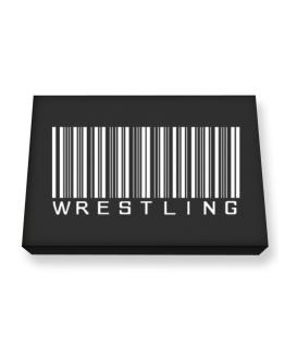 Wrestling Barcode / Bar Code Canvas square